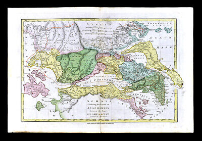 1818 Wilkinson Map Ancient Greece Achaea Attica Athens Corinth Delphi Aegina