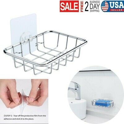 Functional Bathroom Stainless Steel Soap Dish Tray Box Soap Stand Holder  ELNIU