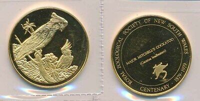 Australia: Mitchell's Cockatoo Gilt Stg Silver medal, NSW Zoological Society