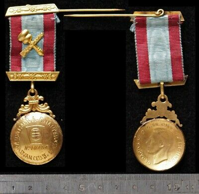 Australian 1d used to make 1943 Austral R A Chapter Lodge medal No 402SC