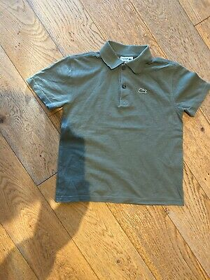 Boys Lacoste Poloshirt. 140cm. Fit Approx 8 Yesr Old.