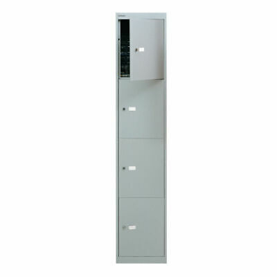 NEW! Bisley 4 Door Locker D305mm Goose Grey BY09213