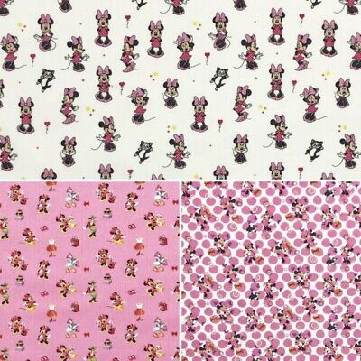 100% Cotton Digital Fabric Disney Minnie Mouse & Friends Daisy Duck