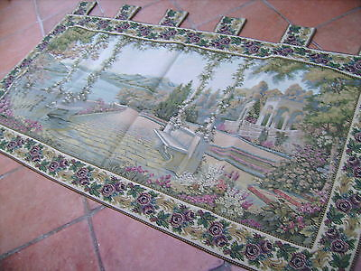 Very Large Wall Tapestry 72  x 38 Garden Scenery Landscape