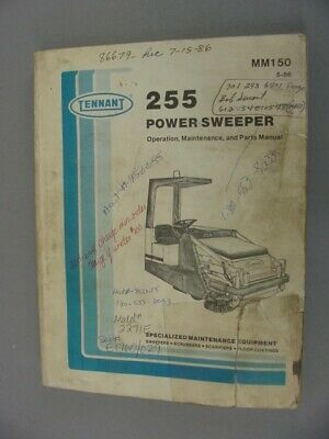 Tennant 255 Power Sweeper Operation, Maintenance & Parts Manual - 1985