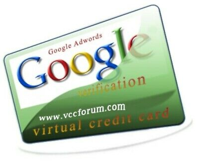 VCC - For GoogleAdwords Verification! | Virtual Credit Card | Speed Shipping!