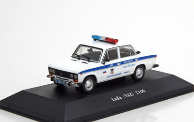 1:43 Atlas Police Cars Collection Lada VAZ 2106 Police Russia 1976
