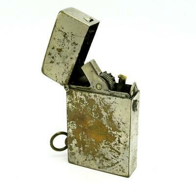 Vintage Pat. Ang. PM Best Make? Nickel Plated Semi-Automatic Push Button Lighter