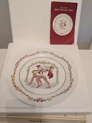 the 11th Spode Christmas plate vintage 1980 BOXED - The Boar's Head Carol