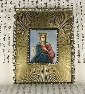 Antique Russian silver 88 icon XIX century. Enamel. Enamel painting 5 ARTEL