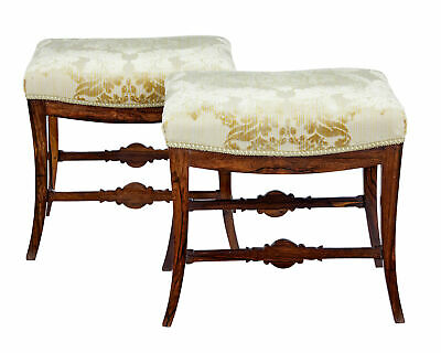 Pair Of Mid 19Th Century Palisander Stools