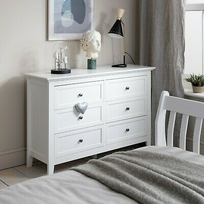 Chest of Drawers Bedside Cabinet in White Karlstad