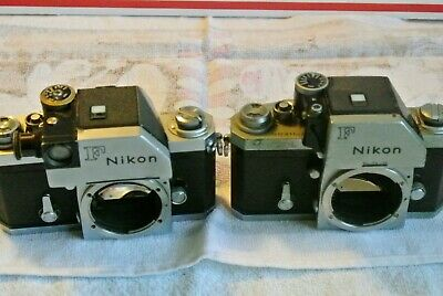 2 Nikon F Cameras  vintage Cool 1967 and 1970 as is