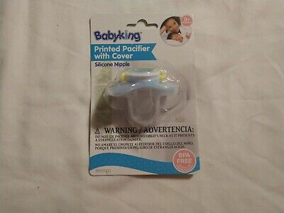 MONTHS BPA FREE NEW BLUE BABY KING MUSTACHE SOFT SILICONE PACIFIER BINKY 0