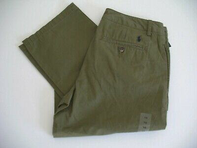 Polo Ralph Lauren Boys Cotton Chino Pants Basic Olive Sz 18 - NWT