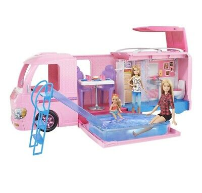 NEW! Barbie DreamCamper Adventure Camping Playset with Accessories - Great Gift