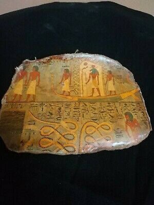 RARE Antique ANCIENT EGYPTIAN ANTIQUE FUNERAL Boat Pottery Fragment 1547-1235 BC
