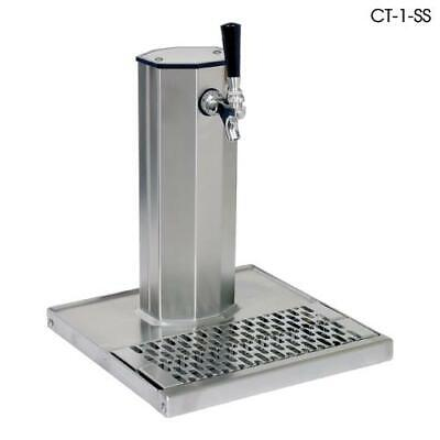 Glastender - CT-1-MFR - 1-Faucet Mirror Finish Glycol Column Tower w/Drain Pan