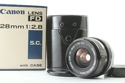 [N Mint w/ Box Case] Canon FD 28mm f2.8 SC S.C. MF Wide Angle Lens From Japan