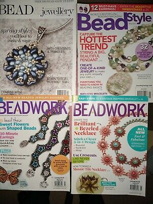 4 Beading / Jewellery Magazines In Vgc