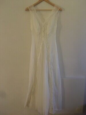 1970s Vintage Vanity Fair Semi Sheer Pleated Size 34 Nightgown Nylon Tricot