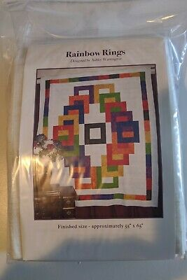 "Quilt Kit - RAINBOW RINGS - Exclusive - Finished Size 55"" by 65"""
