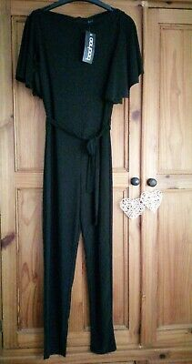 Boohoo Size 10 Black Playsuit / Jumpsuit Ladies Bnwt