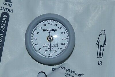 Welch Allyn DS44-11 DuraShock Sphygmomanometer, Adult Size 11 Gauge and cuff 2A