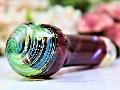 """4.5"""" Emerald Wine Collectible Tobacco Glass Smoking Herb Bowl Hand Pipe"""
