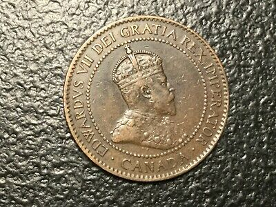 CANADA 1907 1 Cent coin very nice condition