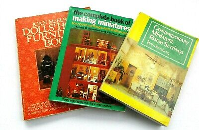 Crafts OOAK Jewelry Miniatures Doll House D00403  Set of 4 Miniature Books