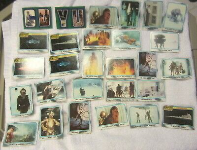 Vintage 28 the empire strikes back trading cards,stickers,estate lot,Star Wars