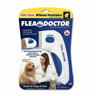 New Flea Doctor Electric Flea Comb-Great for Dogs & Cats Pet Brush Anti Tick