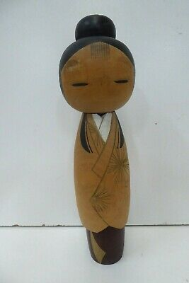 Vintage Japanese Kokeshi Wooden Doll Old Collectors Signed Piece Hand Painted