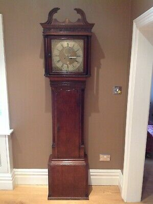 Grandfather clock. Barkers of Wigan. In need of restoration, poor condition