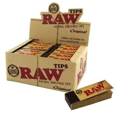 Box of 50 Raw Roach Tip Unrefined Unbleached Booklets