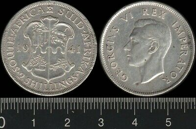 South Africa: 1941 2/- King George VI KGVI Two Shillings