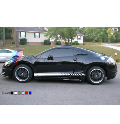 for Mitsubishi Eclipse 4G coupe 2X Car silhouette stickers