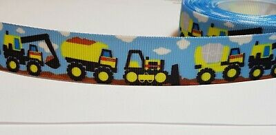 Truck Car Dumper Grosgrain  Ribbon Cards Cakes Scrapbooking Gifts 20mm