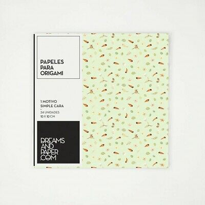24 x Origami Paper one Sided 90gsm Paper 10cm Square