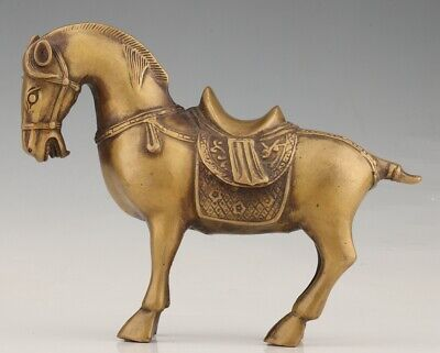 Retro China Brass Animal Horse Mascot Home Decoration Old Gift