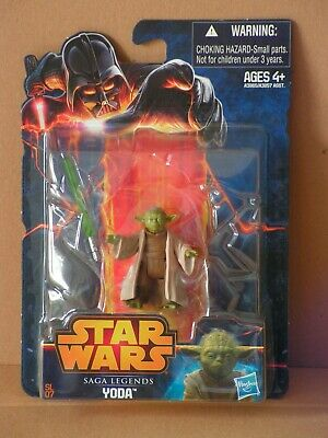 STAR WARS Saga Legends #07 Yoda MOC TLC TBS TVC OTC