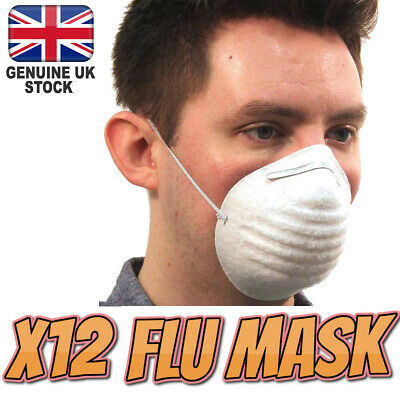 12 X Flu Virus Medical Face Mask Pro Quality Metal Adjustable Strip Surgical