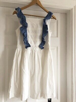 Marks & Spencer Autograph Girls Summer Holiday White Dress NEW Age 12-13 ☀️