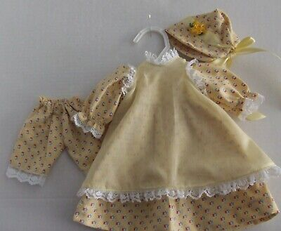 """Dress, Pinafore, Hat, Panties For ''16-18"""" Antique Girl Doll"""