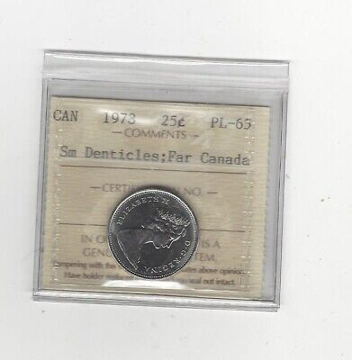 1978 Small Denticle Canada, Caribou  ¢25  ICCS Graded **(MS) PL-65**
