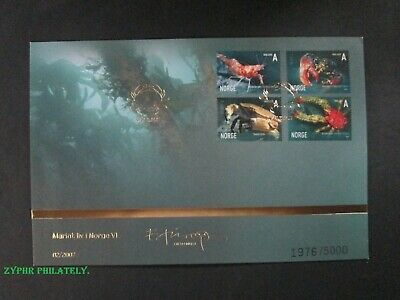 "Norway - ""FISH ~ CRAB ~ MARINE LIFE"" Limited Edition FDC 2007 !"