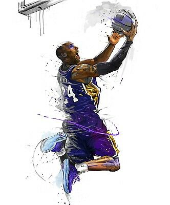 Kobe Bryant Legend Lakers NBA Basketball High Quality poster 610x910mm