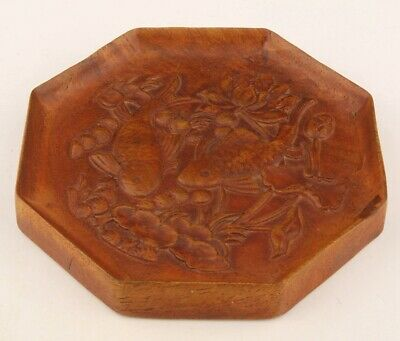 China Boxwood Plate Hand-Carved Jade Mascot Decoration Feng Shui Old Gift