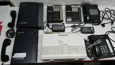 Panasonic Kx-Ta824 Phone System Package + (2) Tva50 (1) Kx-T7750 And Much More!